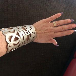 Jewelry - Silvertone cuff bracelet